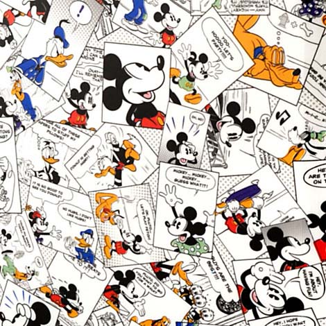 Disney Rolling Luggage Comic Strip Mickey Mouse