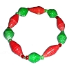 Disney EPCOT Recycled Paper Bracelet - Red & Green - Small Fat Beads