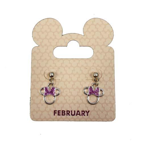 d361372e7d01e Disney Birthstone Earrings - Minnie Mouse