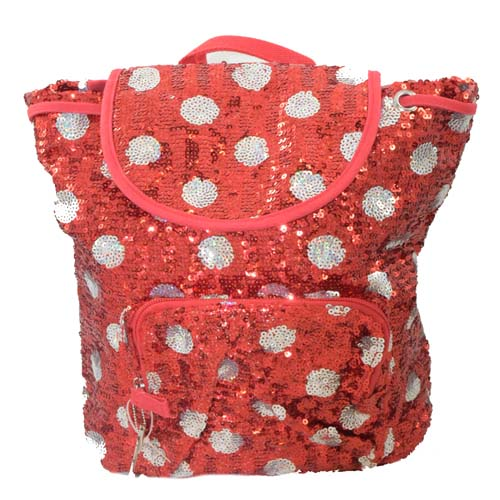 disney backpack bag sequin minnie mouse polka dot