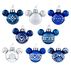 Disney Ornament Set -  Glass Mini Mickey Ears - Blue