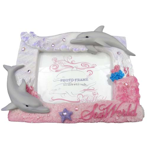 Your WDW Store - Sea World Picture Frame - Girly Dolphin Design - 4 x 6