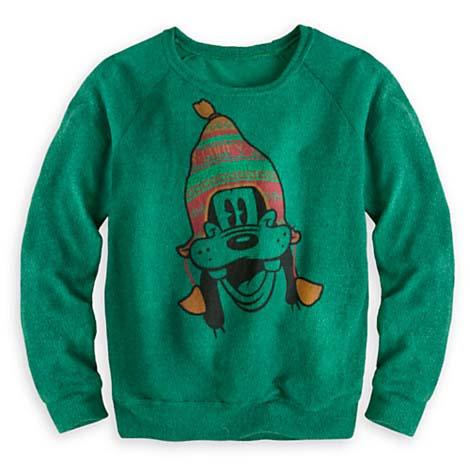 Disney Ladies Sweater Goofy In Knit Hat Sweater For Women
