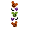 Disney Window Clings Set - Pumpkin Mickey Mouse
