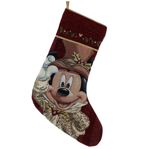 Disney Christmas Holiday Stocking Victorian Mickey Mouse