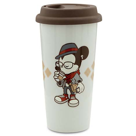 Disney Ceramic Travel Mug Hipster Mickey Mouse