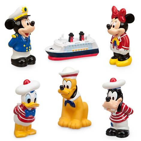 Your WDW Store Disney Bath Toy Set Disney Cruise Line Mickey - Cruise ship toys for sale