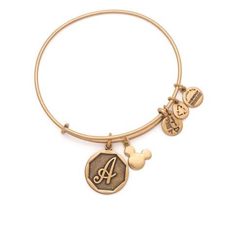 Your Wdw Disney Alex And Ani Charm Bracelet Initial Gold