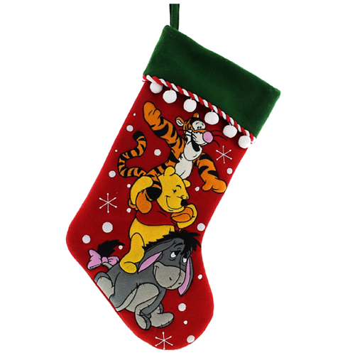 disney christmas holiday stocking winnie the pooh tigger eeyore - Winnie The Pooh Christmas Decorations