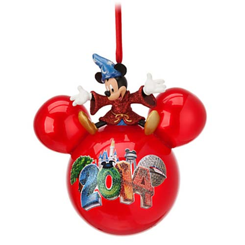 Disney Christmas Ornament 2014 Sorcerer Mickey Mouse On Ball