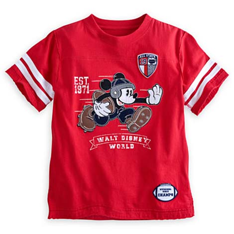 065c17616cde Disney Child Shirt - Mickey Mouse Football Tee - Red
