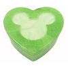 Disney Trinket Box - Handcarved Alabaster Heart w/ Mickey Icon - Green