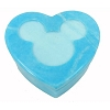 Disney Trinket Box - Handcarved Alabaster Heart w/ Mickey Icon - Turquoise