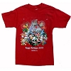Disney Adult Shirt - Happy Holidays 2013 - Red - Short Sleeve
