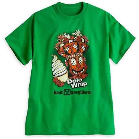 Disney Adult Shirt Dole Whip Tiki Head Green