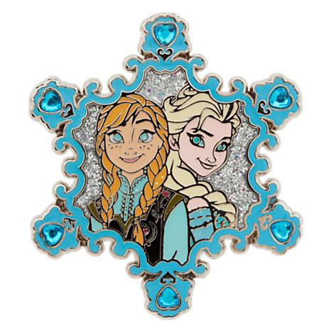 0bf16bdc2 Disney Frozen Pin - Disney's Frozen Princess Anna & Queen Elsa Jeweled