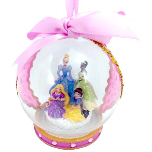 Disney Christmas Ornament Glass Ball Disney 4 Princess Pink