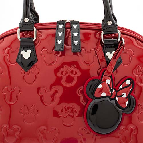 8d27c13b71e Disney Loungefly Satchel Bag - Embossed Patent Minnie Loves Mickey