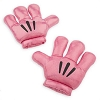 Disney Plush Hands - Mickey Mitts Gloves - Pink Metallic - Black Details