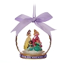 Disney Christmas Ornament - Glass Ball Disney 4 Princess - Purple