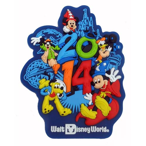 Disney Magnet 2014 Logo Sorcerer Mickey And Pals