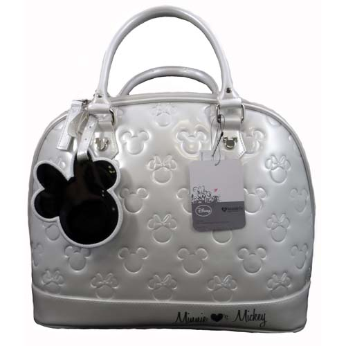 d163dd934c8 Disney Loungefly Satchel Bag - Embossed Patent Minnie Loves Mickey