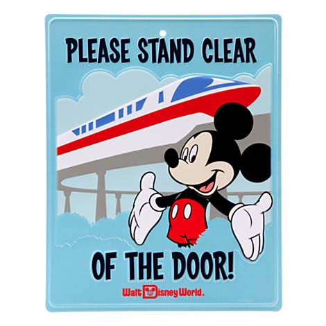 Disney Door Sign Mickey Mouse Please Stand Clear Of