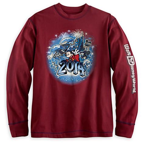 3e9ac642 Disney Adult Long Sleeve Shirt - 2014 Walt Disney World - Red