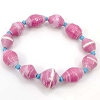Disney EPCOT Recycled Paper Bracelet - Light Pink Beads