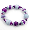 Disney EPCOT Recycled Paper Bracelet - Purple & Blue Beads