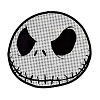 Disney Window Decal - Textured Jack Skellington