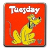 Disney Hidden Mickey Pin - 2013 B Series - Weekdays Pluto - Tuesday