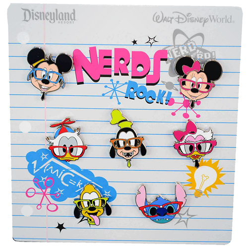 Disney 7 Pin Booster Set - Mickey and Friends - Nerds Rock Faces