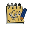 Disney Hidden Mickey Pin  - Character Sketch Pad - Simba
