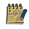 Disney Hidden Mickey Pin  - Character Sketch Pad - Tow Mater