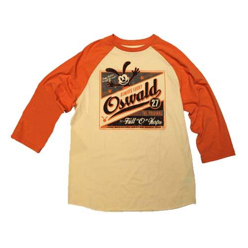 Disney Adult Shirt Oswald Vintage Logo Raglan