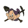 Disney Hidden Mickey Pin  - The Seven Dwarfs - Dopey