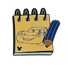 Disney Hidden Mickey Pin  - Character Sketch Pad - Lightning McQueen