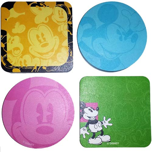 Disney Notepad 4 pc. Set - Classic Mickey Mouse - Pie Eyed Mickey