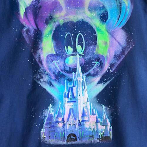 Disney Adult Shirt Mickey Mouse Northern Lights