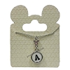Disney Necklace - Black and White Initial Mickey Mouse