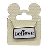 Disney Necklace - Black and White Mickey Icon - Believe
