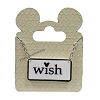 Disney Necklace - Black and White Mickey Icon - Wish