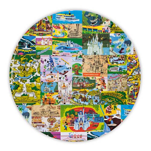 Disney Dinner Plate - Magic Kingdom Map - Magic Kingdom on tomorrowland map, walt disney world resort, polynesian resort map, epcot center map, big thunder mountain railroad, hong kong disneyland map, cinderella castle, tokyo disneyland, universal studios florida, main street map, disneyland park map, busch gardens map, disney map, typhoon lagoon map, florida map, splash mountain, haunted mansion, tokyo disneyland map, kingdom keepers map, islands of adventure, hong kong disneyland, sleeping beauty map, adventureland map, space mountain, pirates of the caribbean, universal map, orlando map, downtown disney, new fantasyland map, disneyland paris map, animal kingdom map, seaworld orlando, tokyo disneysea map,