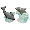 SeaWorld Salt and Pepper Shakers - Grey Dolphin on Waves