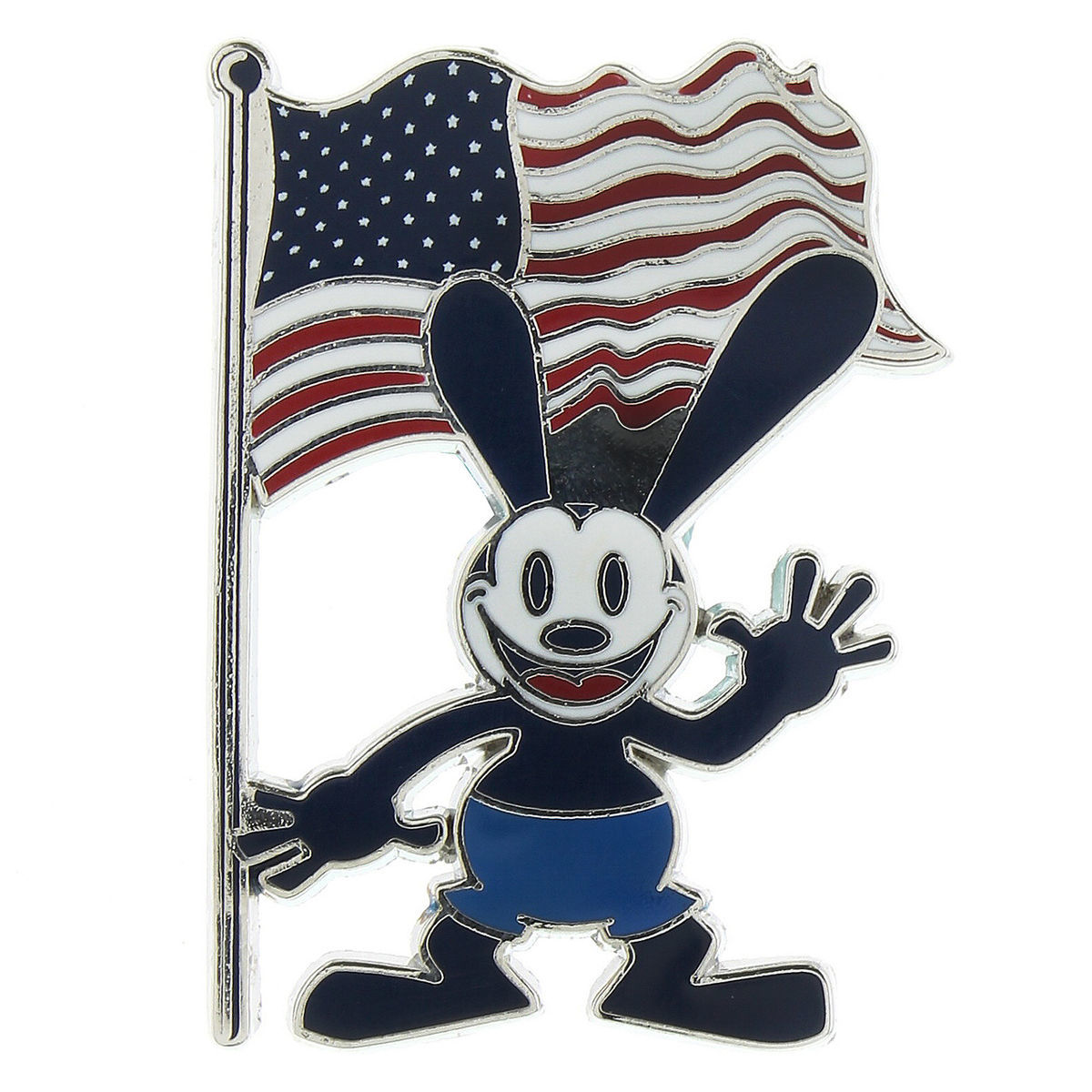 Disney Oswald Pin - Oswald the Lucky Rabbit with USA Flag