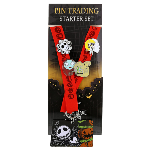 Disney Pin Starter Set - Nightmare Before Christmas - Red Lanyard