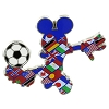 Disney Mickey Pin - 2014 Mickey Soccer Player - Multi-Country