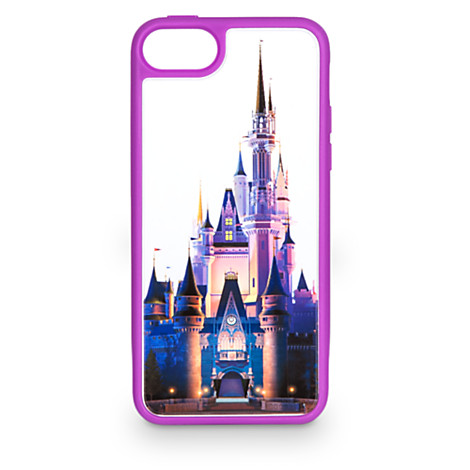 buy cheap 2a502 b505c Disney iPhone 5C Case - Cinderella Castle Clear - Purple