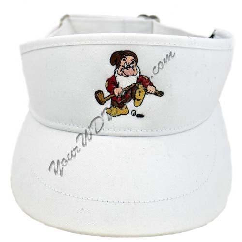 Disney Golf Sun Visor Hat - Grumpy Golfing - White f9f864fff2e